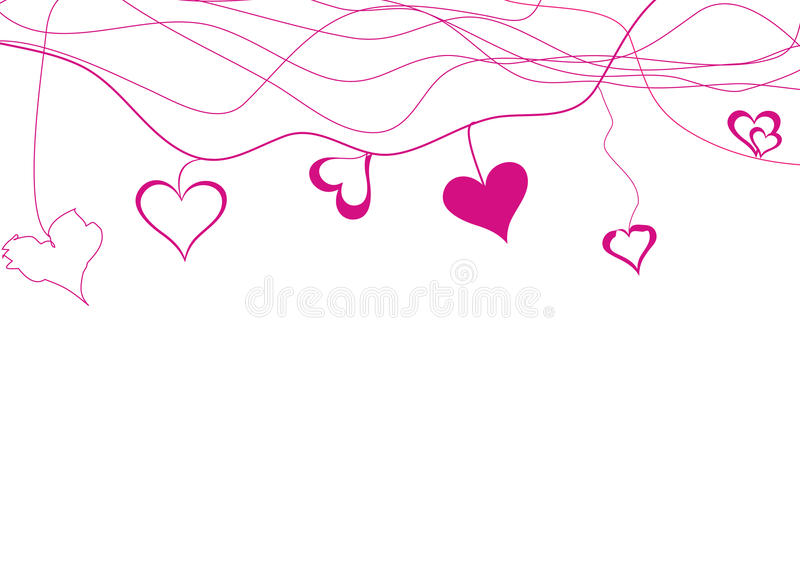 Download Hearts stock illustration. Image of pink, purple, background - 17163527