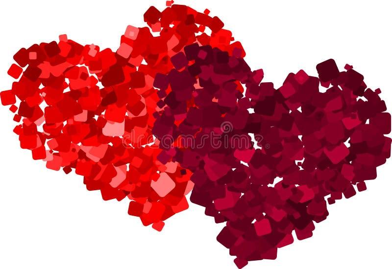 Download Hearts stock vector. Image of pink, random, couple, romance - 17951748