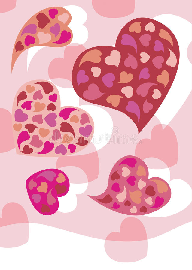 Download Hearts stock vector. Image of background, pink, valentine - 18096691
