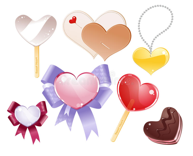 Download Hearts stock vector. Image of gift, heart, feeling, isolated - 18255795