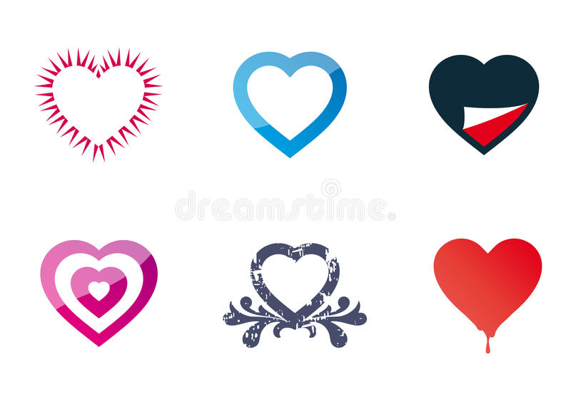 Download Hearts stock vector. Illustration of peal, blue, spikes - 20211211