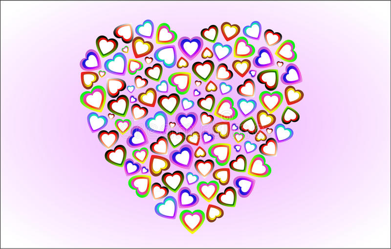 Download The hearts stock illustration. Image of festive, radiant - 22469767