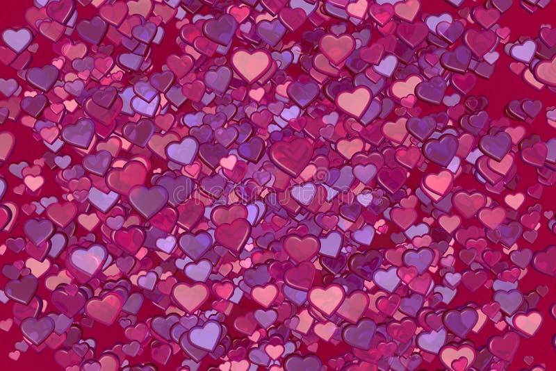 Download Hearts stock illustration. Image of render, valentine - 28644883