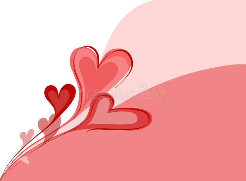 Hearts. An abstract flower of some hearts stock illustration