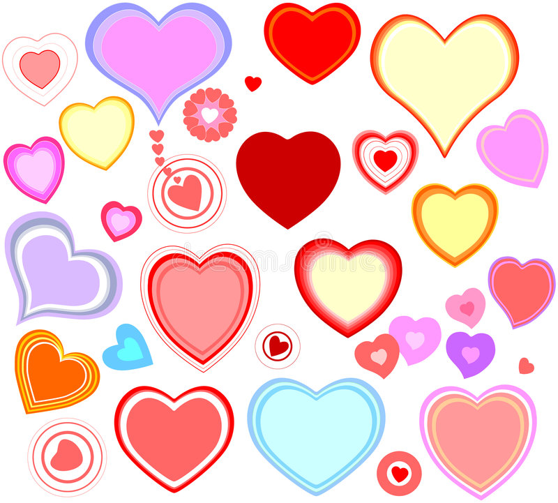 Download Hearts stock vector. Image of happiness, love, patterns - 4561649
