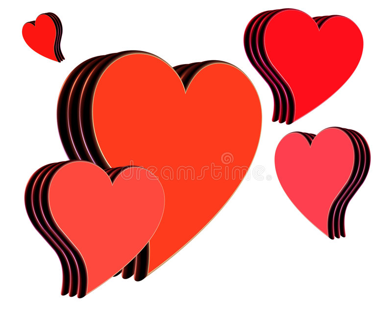 Download Hearts stock illustration. Illustration of graphic, emotional - 486009
