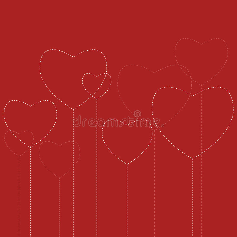 Download Hearts stock vector. Image of decoration, season, greeting - 7417529