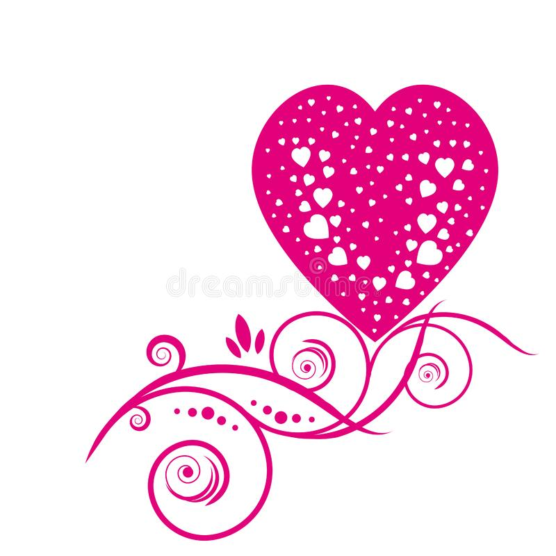 Download Hearts stock vector. Illustration of flyer, carnival, cake - 7999261