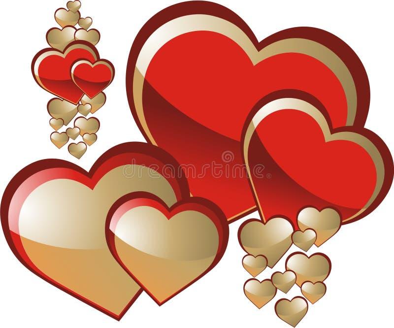 Hearts stock image
