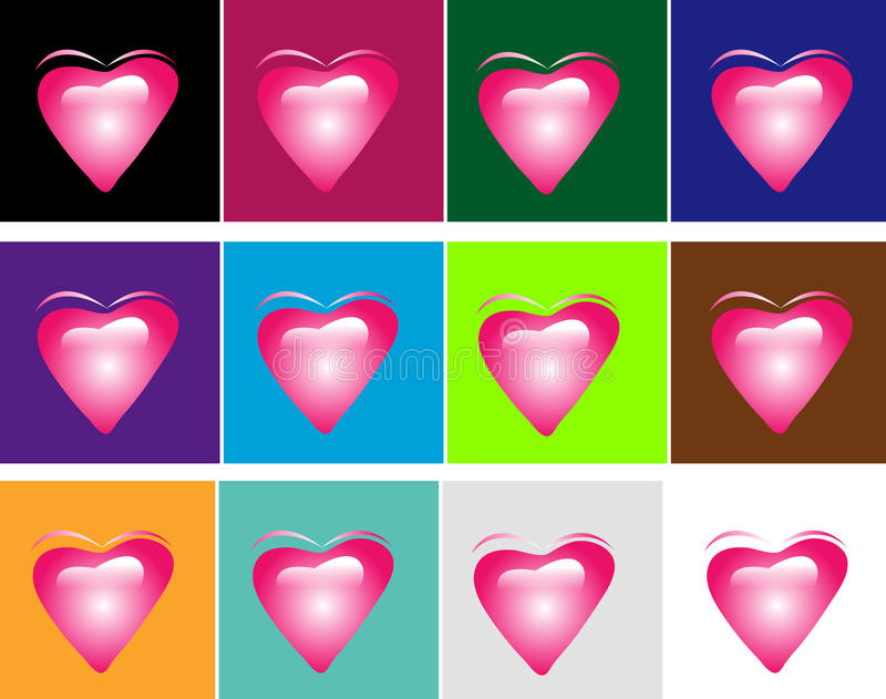 Download Hearts stock image. Image of button, colors, creativity - 9505111