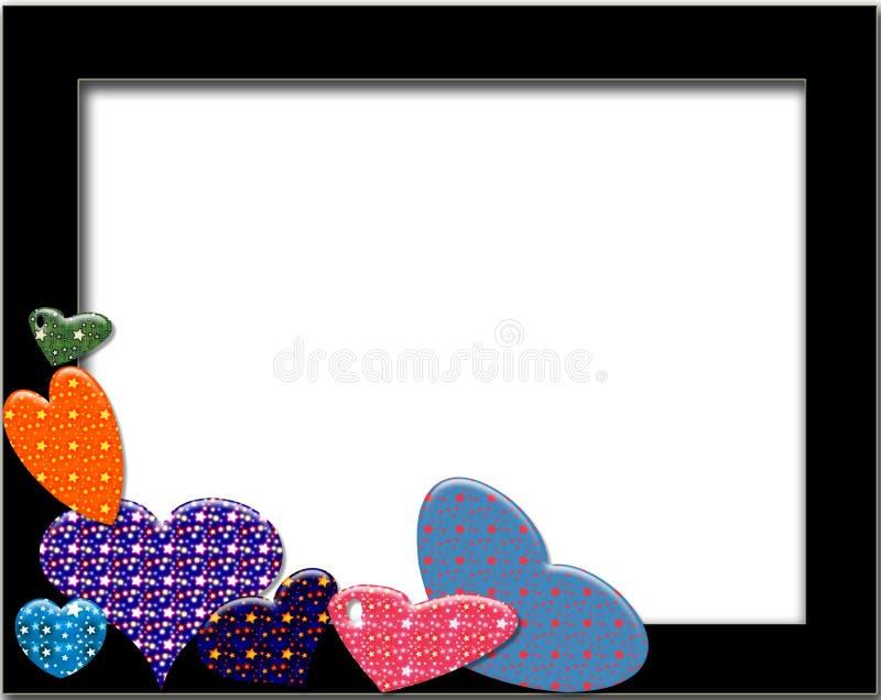 Hearts ans stars stock illustration