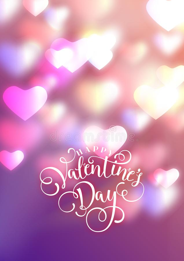 Hearts as background. valentines day concept. Vector illustration.  stock image