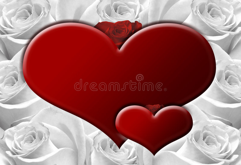 Hearts B stock image