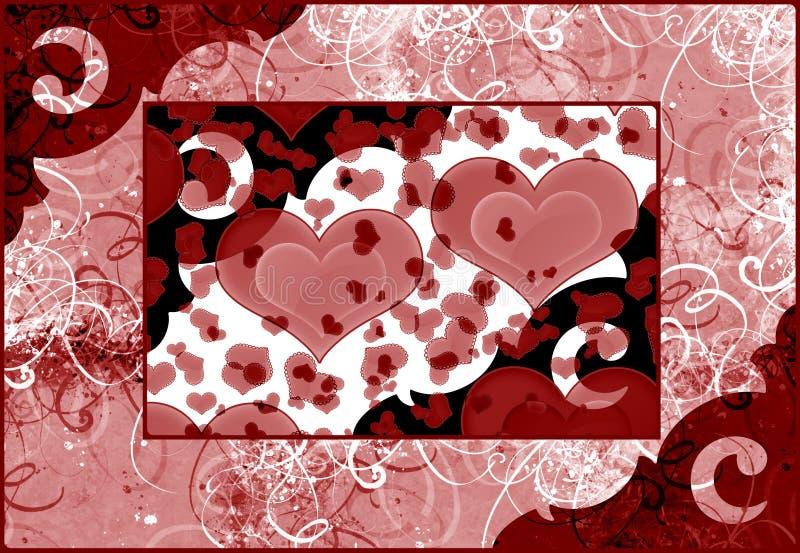 Download Hearts background stock illustration. Illustration of decorative - 10664229