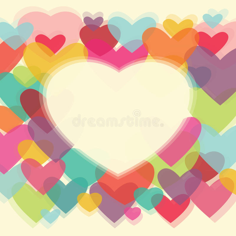 Download Hearts background stock vector. Image of multicolor, decor - 21236392