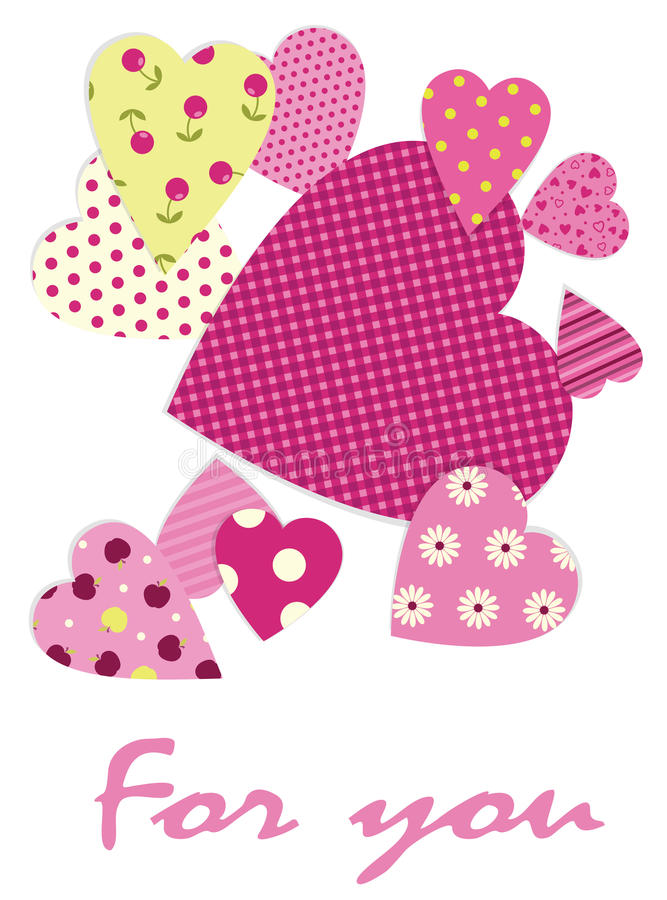 Download Hearts  background stock vector. Image of textured, love - 28477130