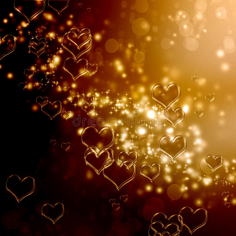 Download Hearts background stock illustration. Image of gold, amour - 28623815