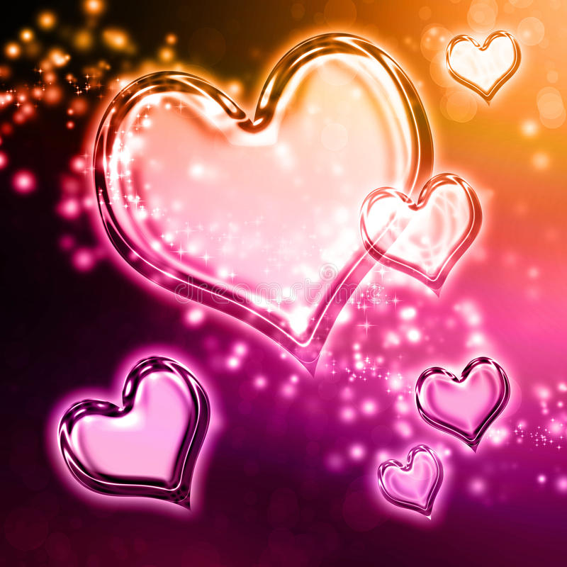 Download Hearts background stock illustration. Image of beautiful - 28623965