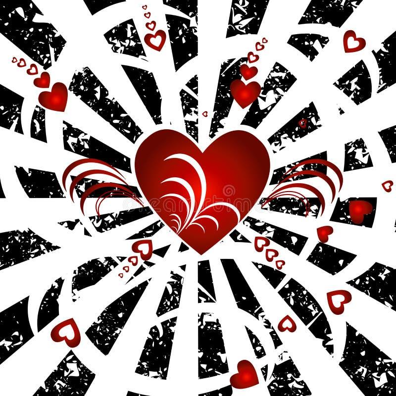 Hearts background royalty free illustration