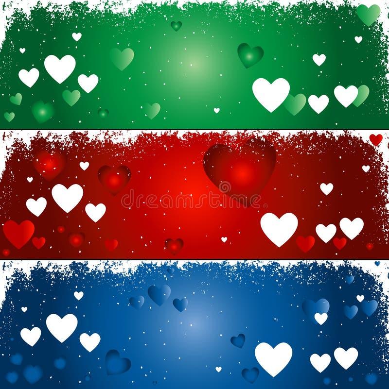 Hearts background stock illustration