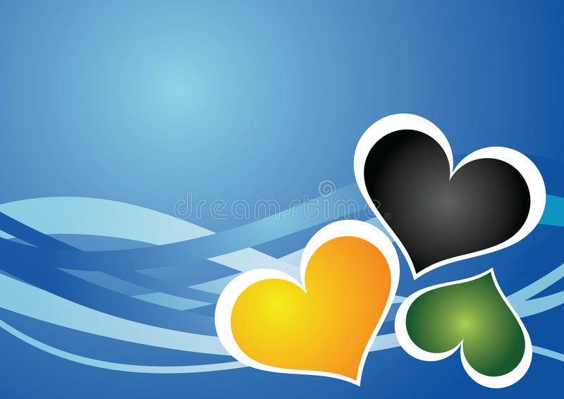 Download Hearts background stock vector. Illustration of color - 7495306