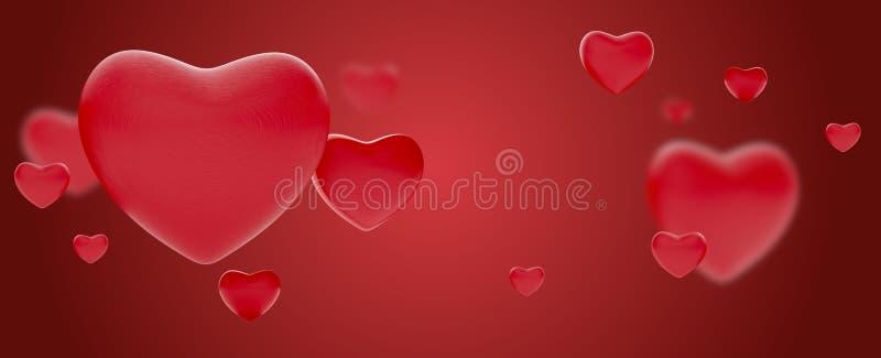 Hearts background love valentines or mothers day design 3d-illustration vector illustration