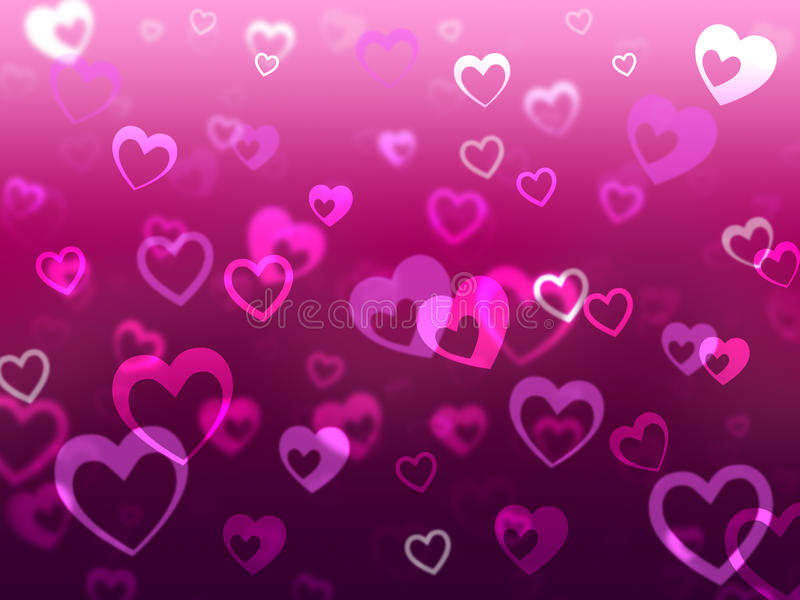 Hearts Background Means Love Romance And Missing vector illustration