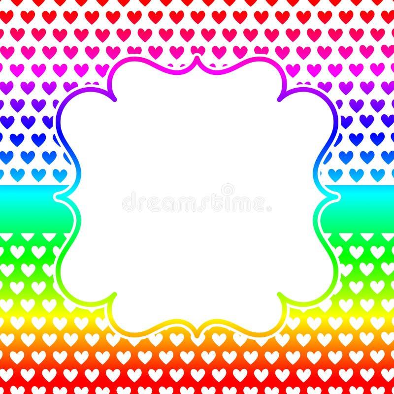 Square Hearts Frame Invitation Card Stock Illustration
