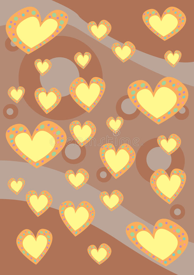 Download Hearts background texture stock illustration. Image of anniversary - 15677559