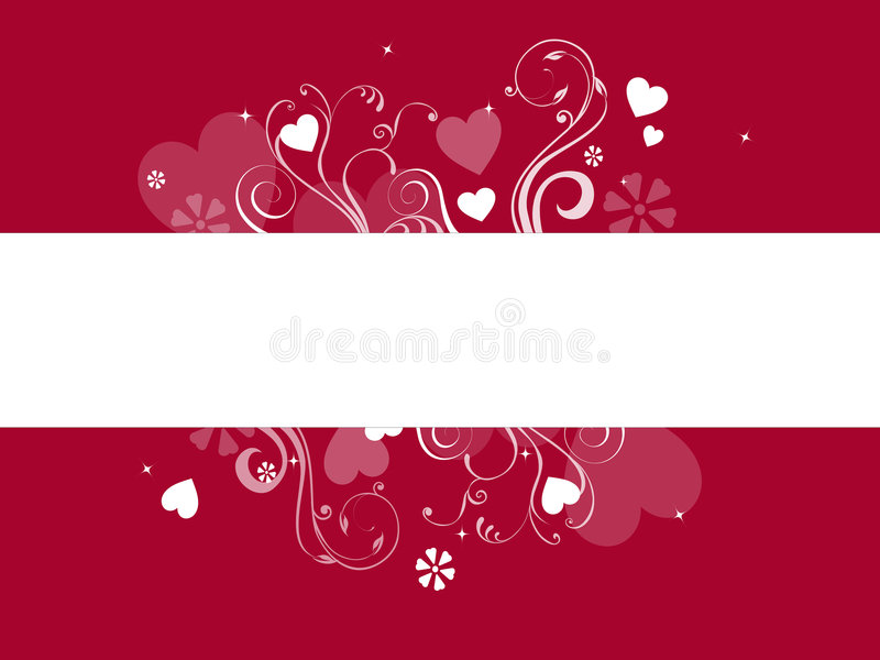 Hearts banner stock image