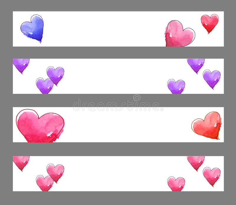 Download Hearts banners stock illustration. Illustration of clip - 12660307