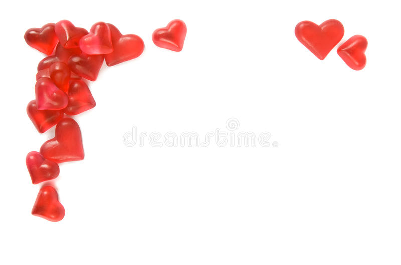Hearts border stock images