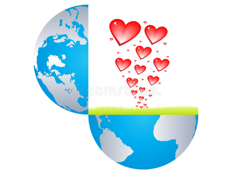 Download Hearts Bursting From The Earth Stock Vector - Image: 8310990