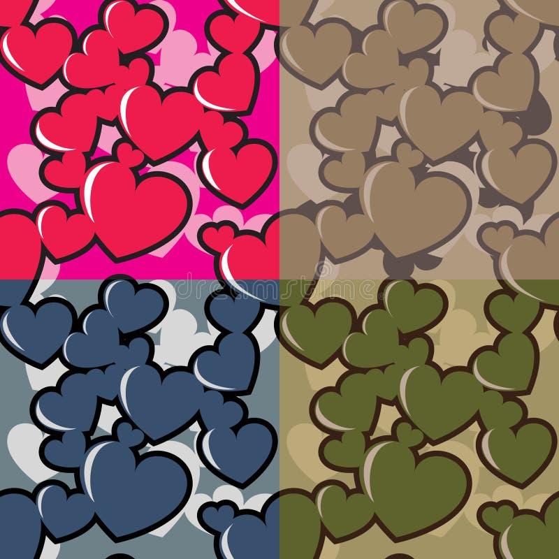 Hearts camo royalty free illustration