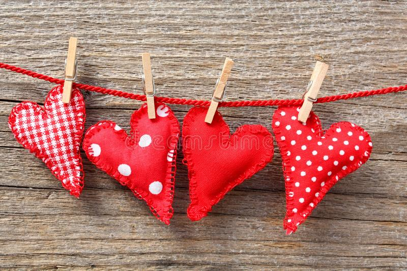 Download Hearts And Clothespins On Line Stock Image - Image: 14803213