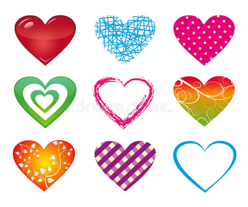 Download Hearts stock vector. Illustration of green, rose, isolated - 41709362