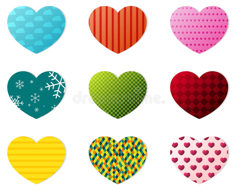 Download Hearts Collection Stock Image - Image: 37658981