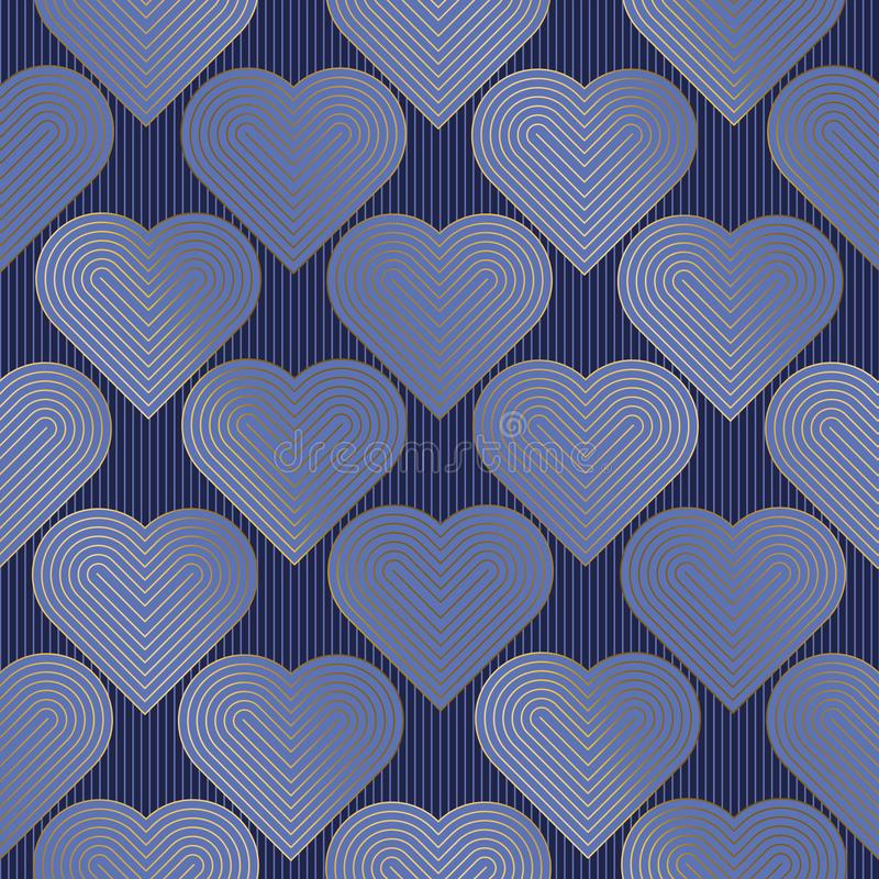 Hearts color seamless vector pattern stock illustration