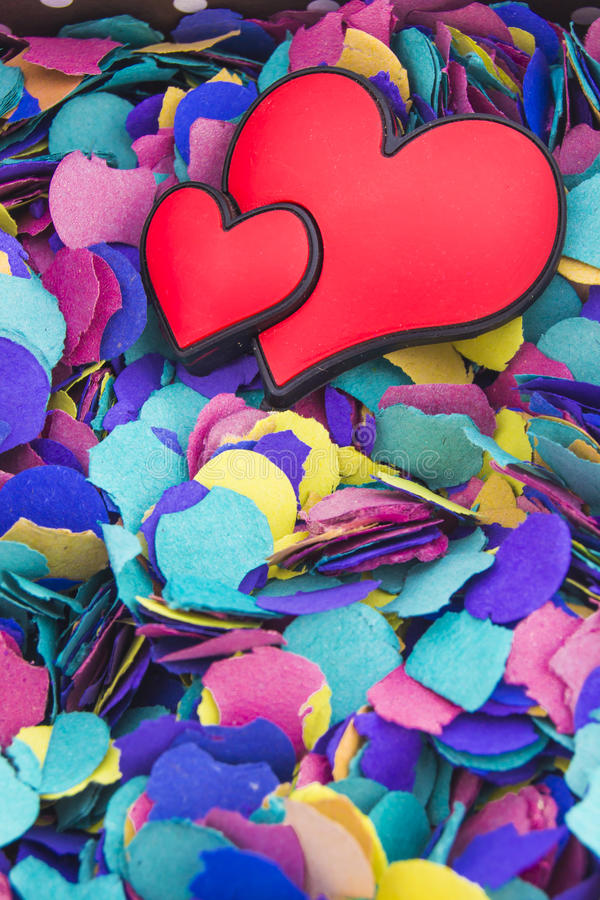 Hearts on colorfull background royalty free stock images