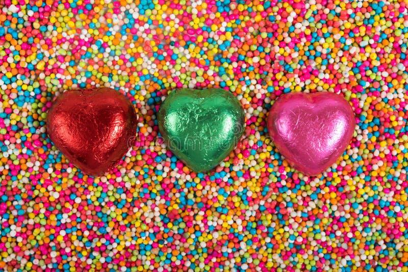 3 Hearts royalty free stock image
