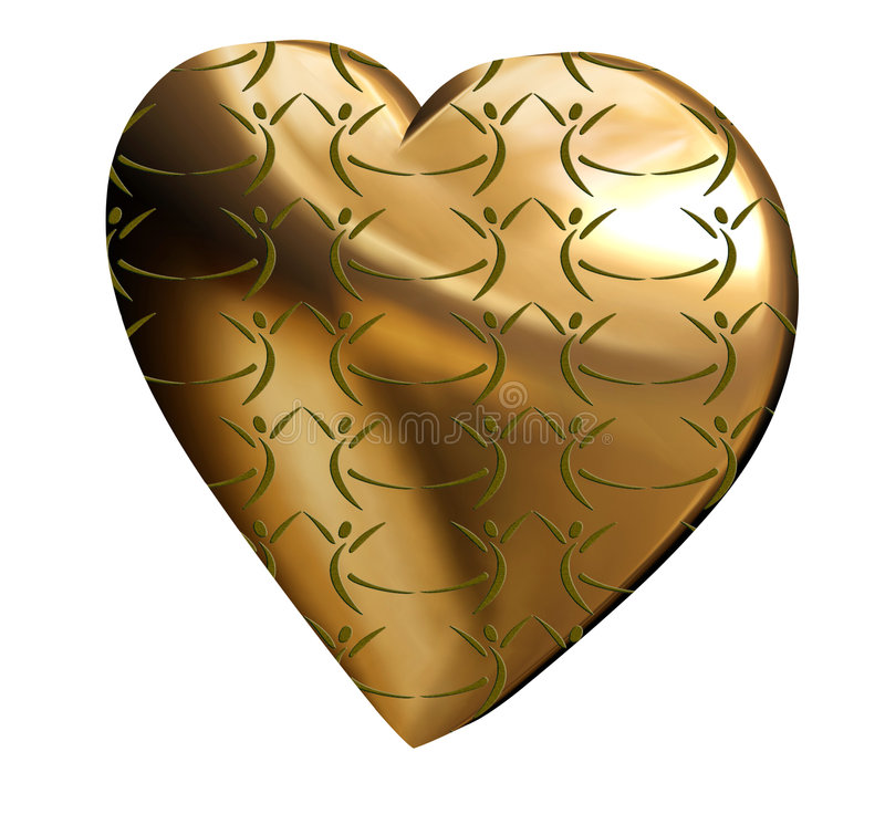 Download Hearts with a couple stock illustration. Image of heart - 4029530