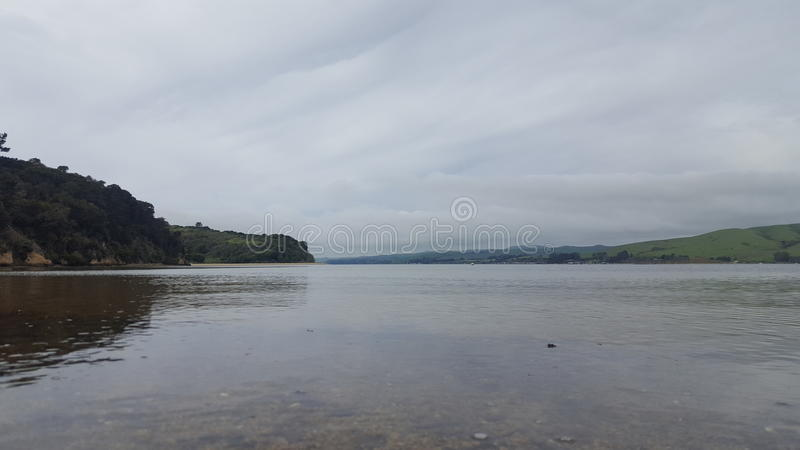 Hearts Desire Beach. Walking in Tomales Bay at Hearts Desire Beach, Marin County, California royalty free stock image