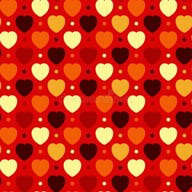Hearts And Dots Stock Images