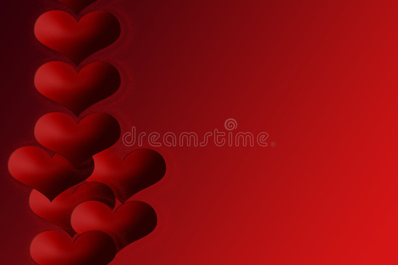 Hearts E vector illustration