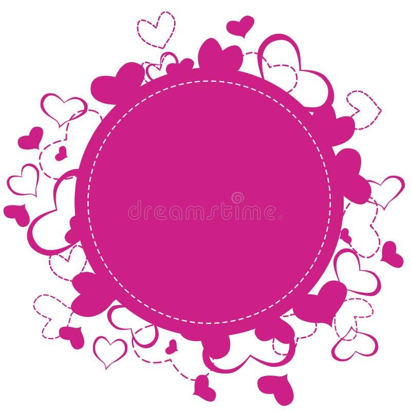 Hearts frame royalty free illustration