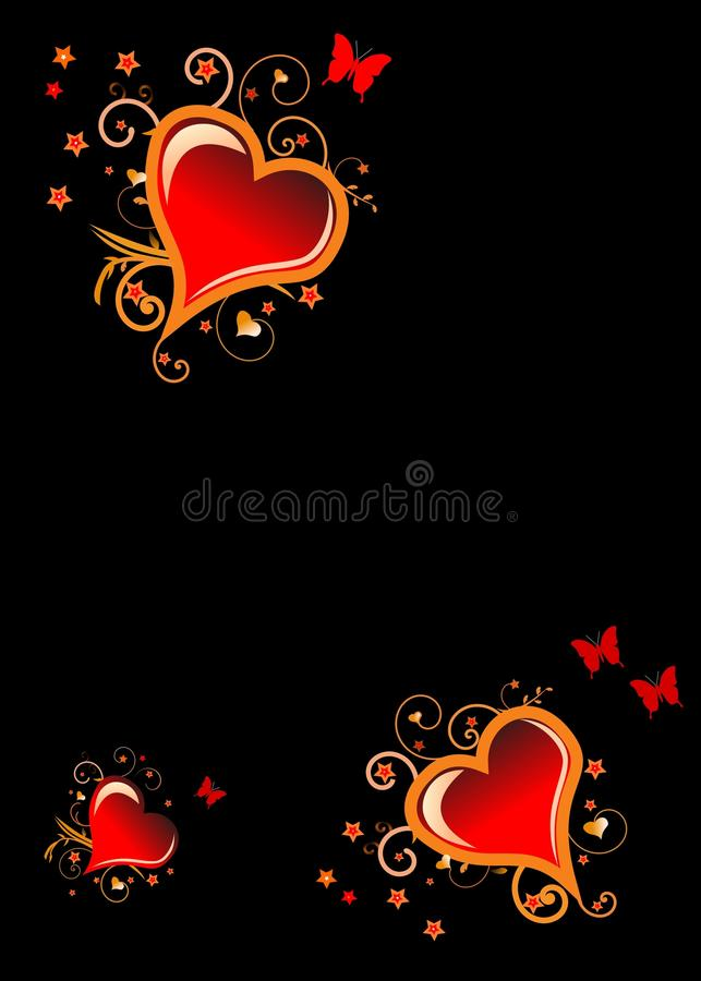 Hearts of gold stock illustration