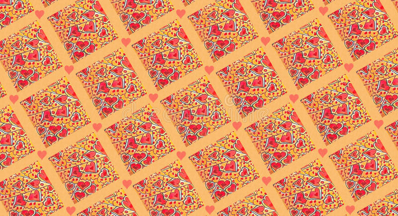 Hearts For Granny Pattern royalty free stock image