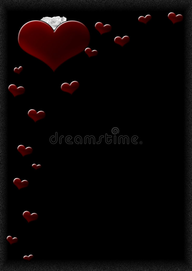 Hearts H royalty free illustration