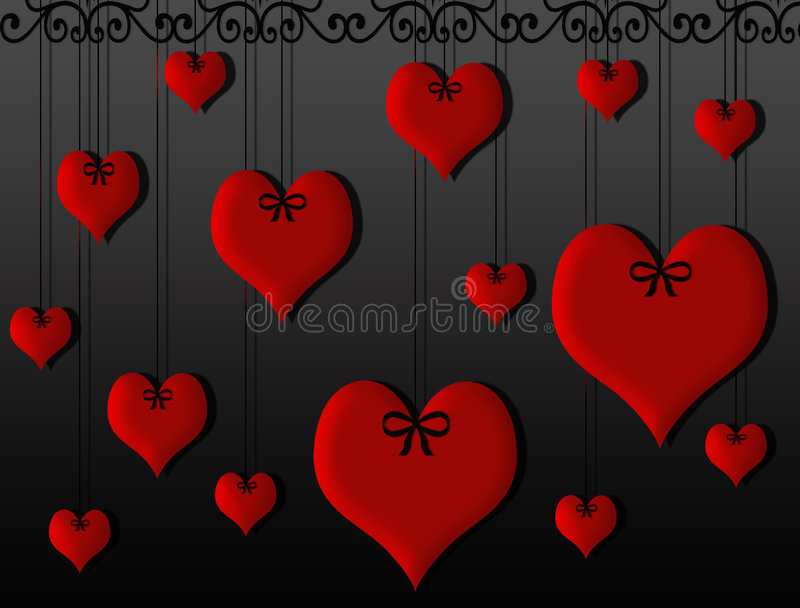Download Hearts hanging stock illustration. Illustration of heart - 6501027