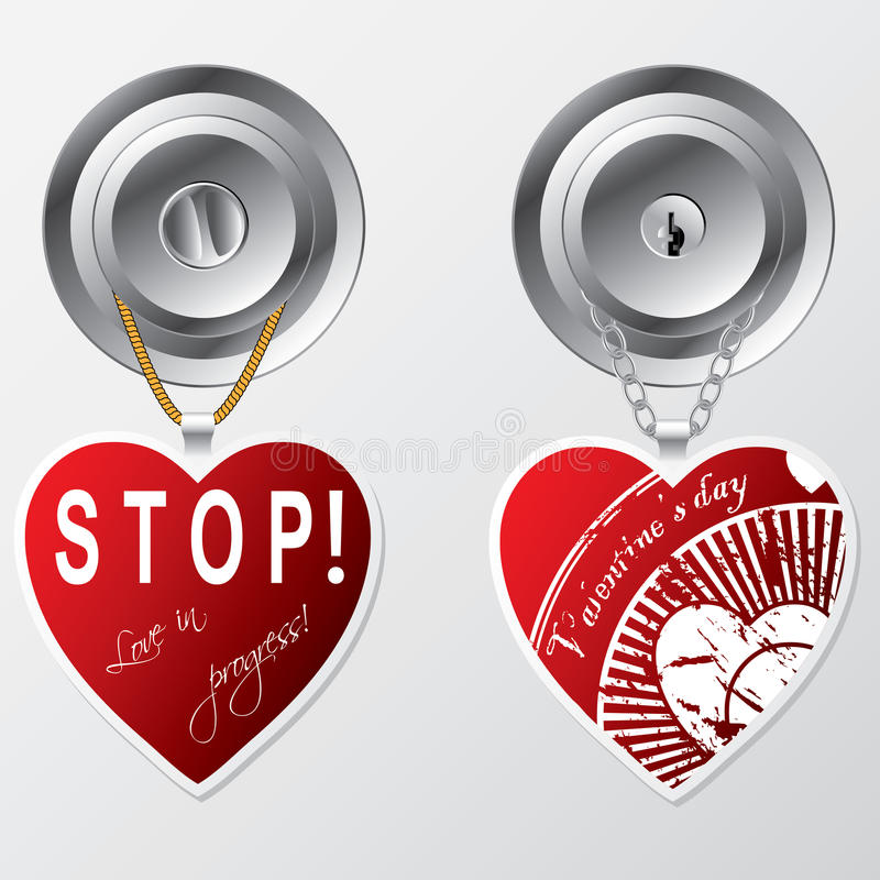 Download Hearts Hanging On Door Knob Royalty Free Stock Photo - Image: 22988675